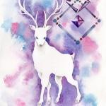 コラボ作品「白鹿」